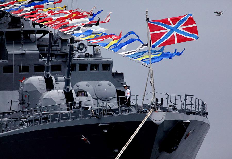 флаг россии на корабле картинки