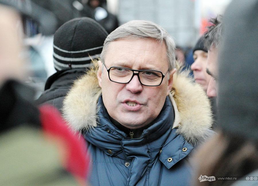 Михаил Касьянов намитинге протеста «Зачестные выборы» вМоскве. © Антон Тушин/Ridus.ru
