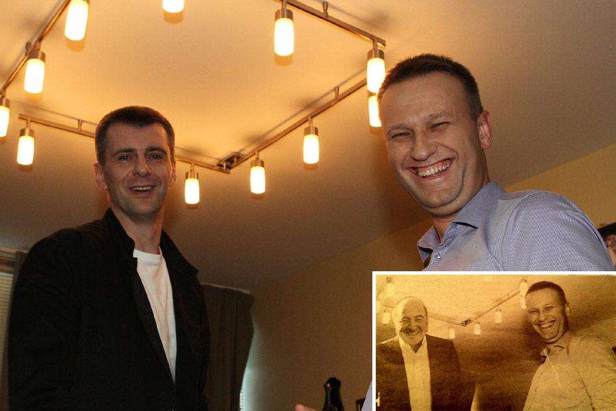 Алексей Навальный и Михаил Прохоров