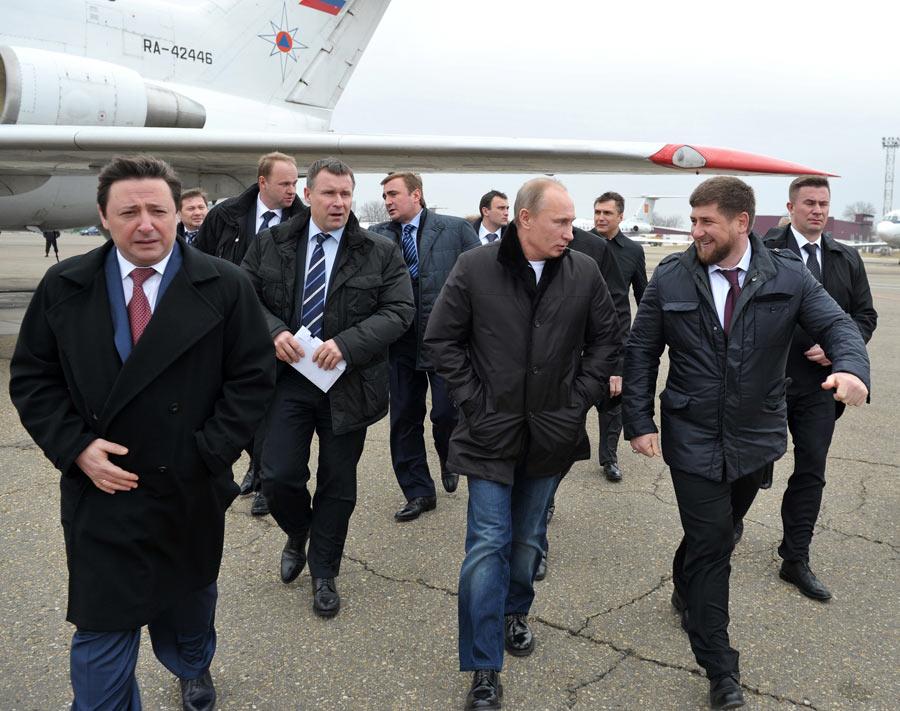Поездка Путина вГудермес. © Алексей Никольский/РИА Новости