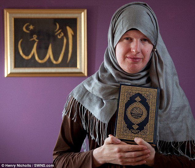 Row: Miss Vallender says her local mosque has victimised her because they asked her to worship with men, not women