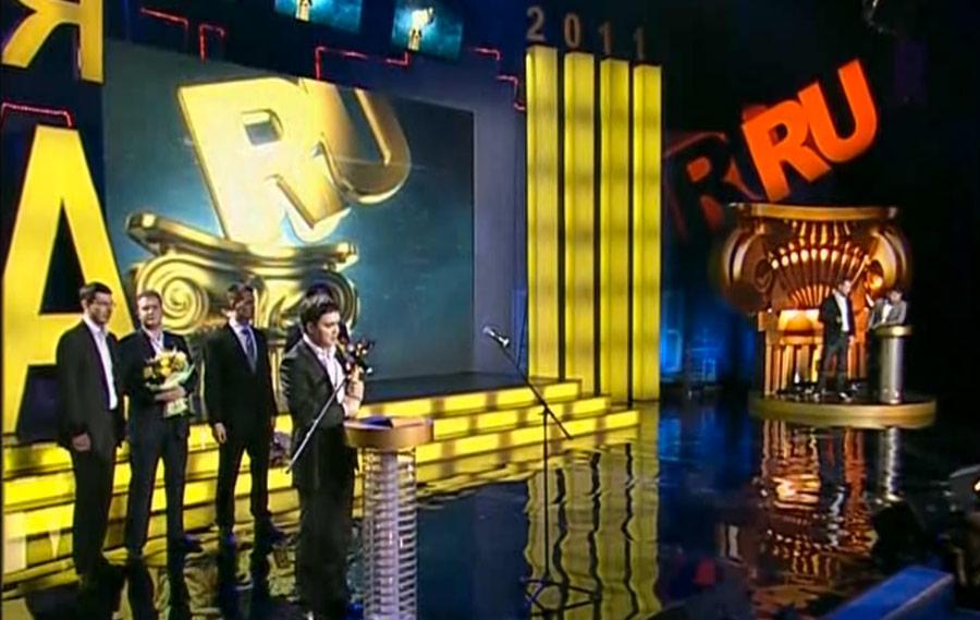 Кадр онлайн-трансляции «Премии рунета-2011»