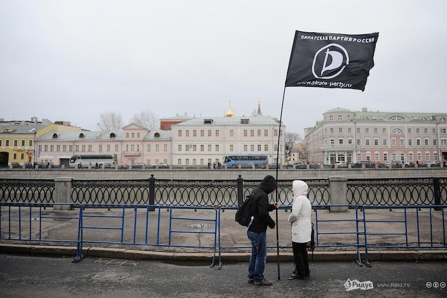 Наакции протеста активистов партии «Яблоко» наБолотной площади вМоскве 17декабря 2011 года. © Антон Белицкий/Ridus.ru