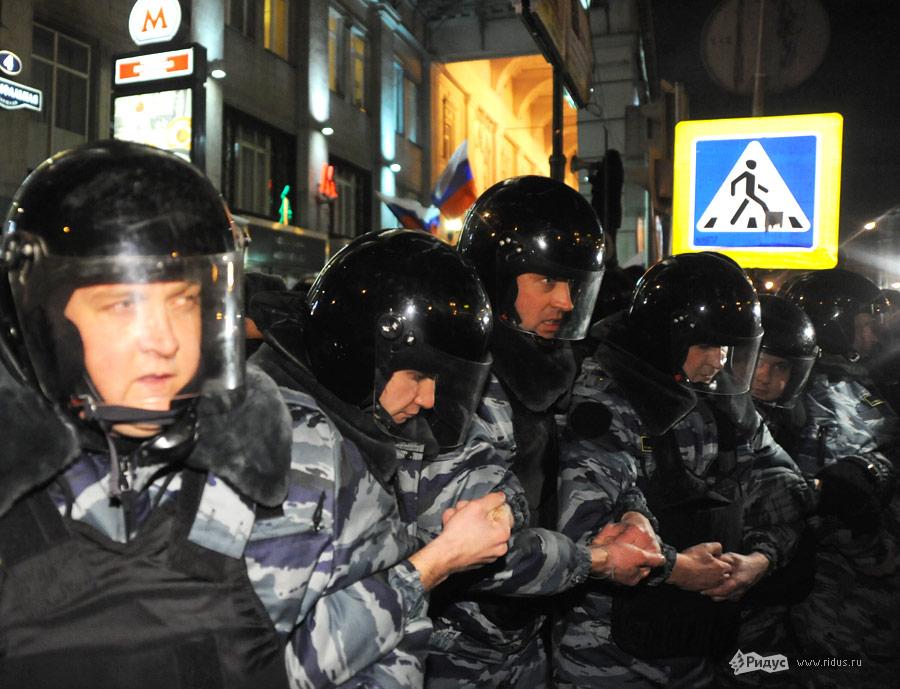 Акция оппозиции наТриумфальной площади вМоскве. © Василий Максимов/Ridus.ru