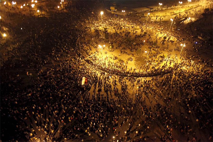 Демонстранты наплощади Тахрир вКаире. © Mohamed Abd El-Ghany