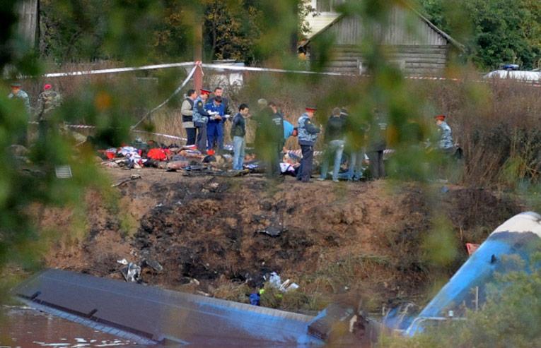 Наместе крушения самолета Як-42. © РИА Новости