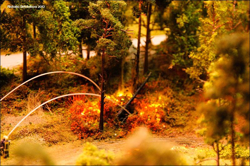 Тушение пожара. © ta_samaya