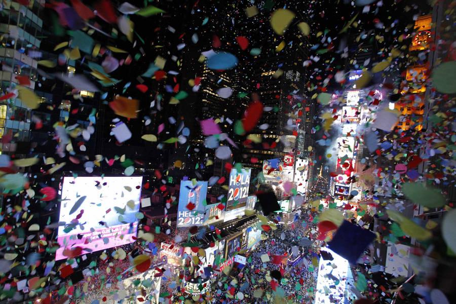 Празднование Нового Года наТаймс Сквер. © Gary Hershorn/Reuters