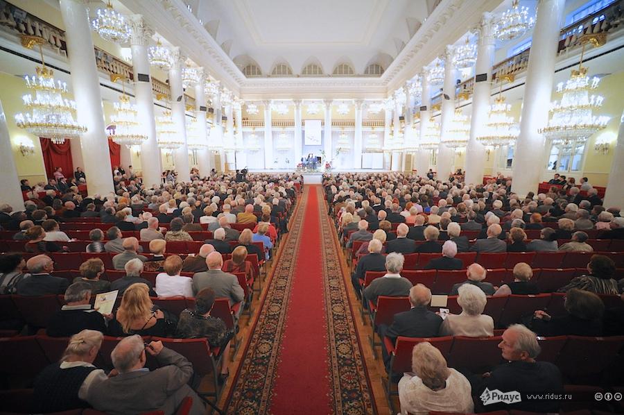 Колонном зале Дома Союзов.