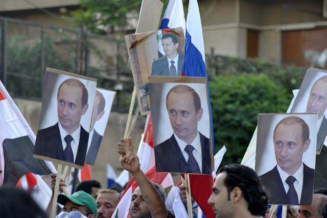 Митинг заПутина, Дамаск, Сирия