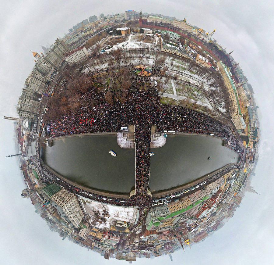 Митинг «За честные выборы» на Болотной площади в Москве