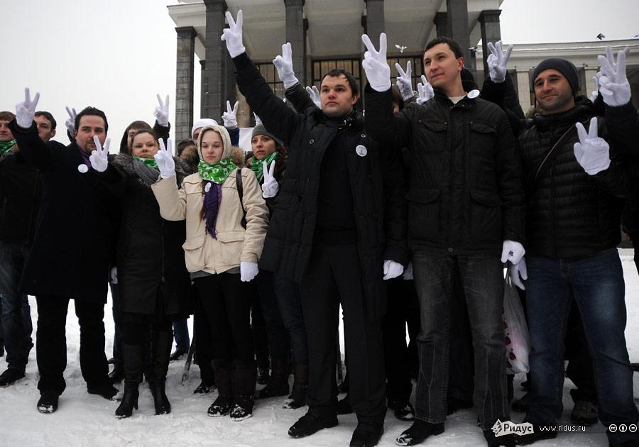 Уличная пресс-конференция Штаба единых действий. © Василий Максимов/Ridus.ru