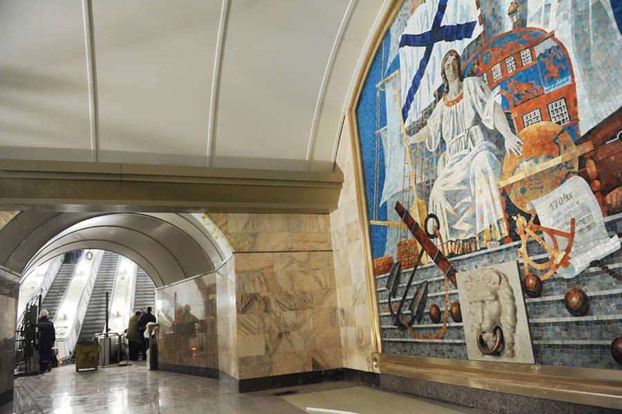 Станция Адмиралтейская незадолго дооткрытия. © Сергей Ермохин/РИА Новости