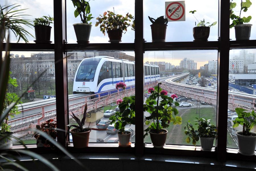 схема монорельсовая дорога в москве.
