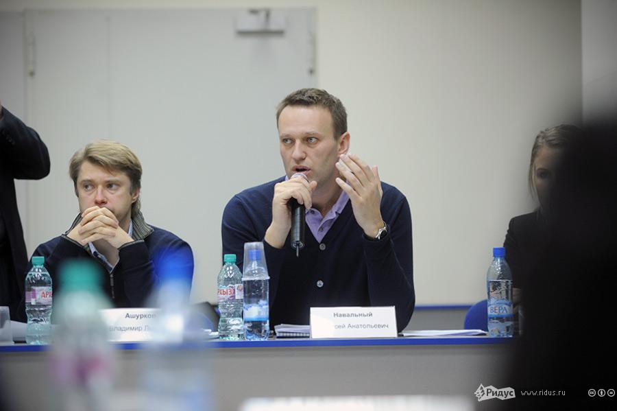 Алексей Навальный назаседании Координационного совета оппозиции. © Антон Белицкий/Ridus.ru