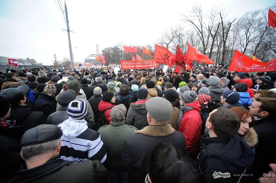 Митингующие наБолотной площади вМоскве 10декабря 2011 года. © Антон Белицкий/Ridus.ru