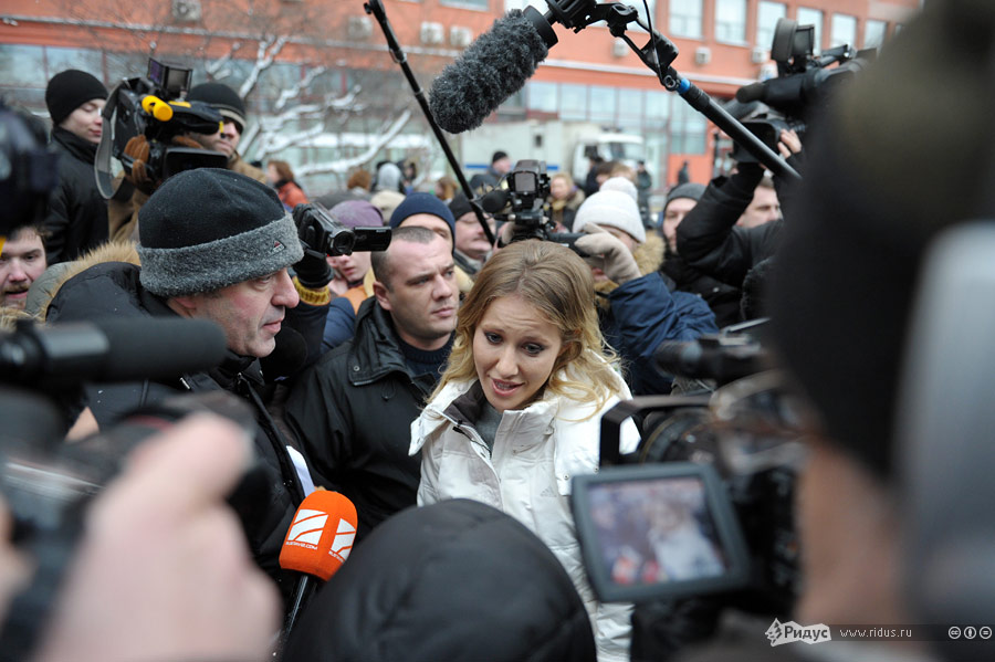 Ксения Собчак намитинге «Зачестные выборы» 24декабря 2011 года. © Антон Тушин/Ridus.ru