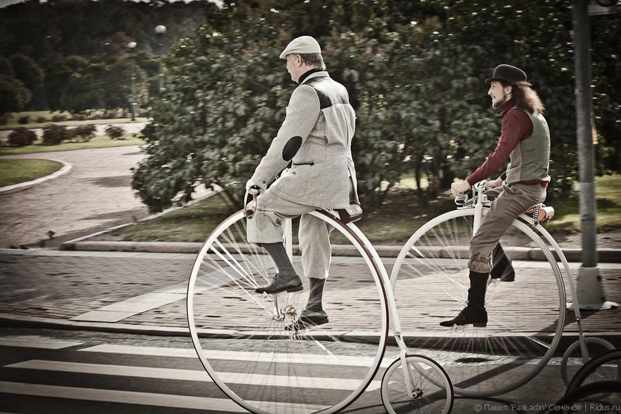 Велосипеды пенни-фартинг. Фото: Павел 'PaaLadin' Семёнов   Ridus.ru