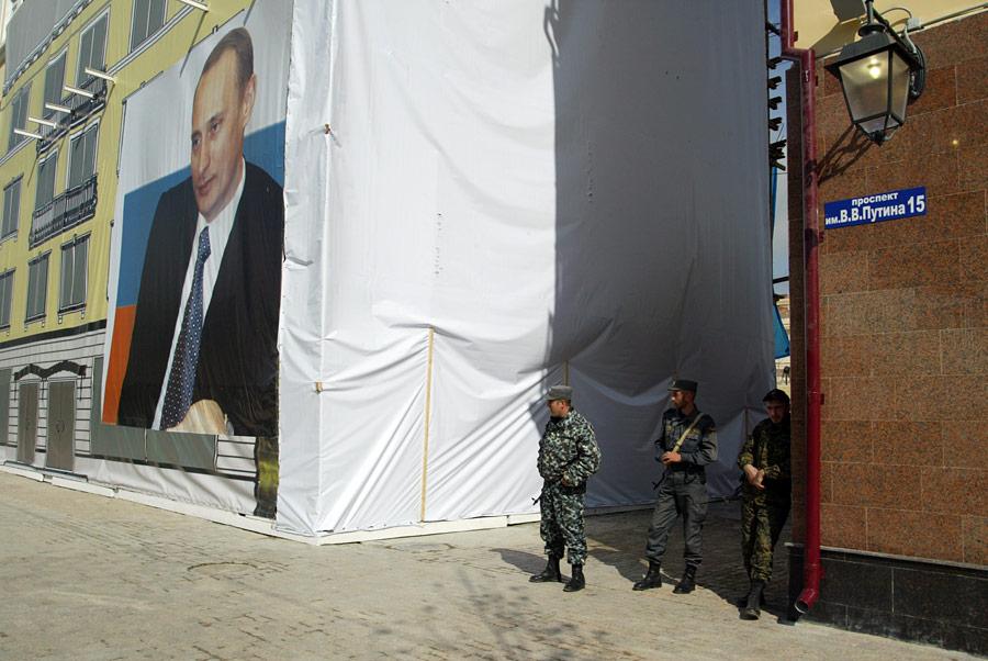 Напроспекте им. В.В.Путина вГрозном. © Саид Гуциев/РИА Новости