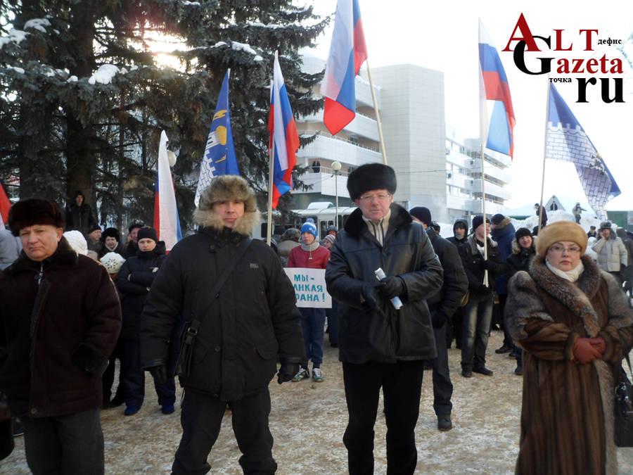 Единороссовское начальство справа налево: глава поселения Реммаш, Председатель райсовета, заместитель главы района
