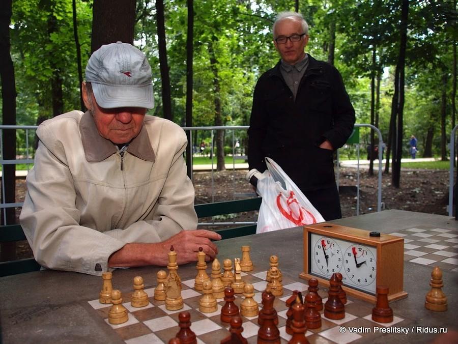 Шахматная партия. Парк Сокольники. Москва. © Vadim Preslitsky