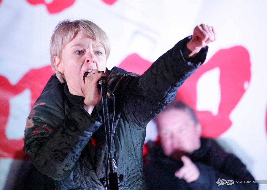 Евгения Чирикова намитинге «Солидарности» 5декабря 2011 года вМоскве. © Антон Тушин/Ridus.ru
