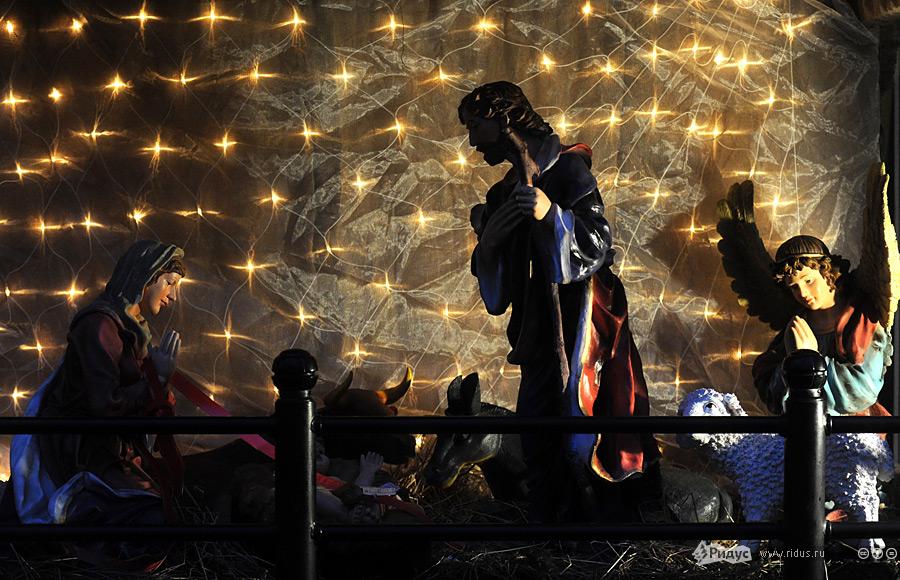 ВоЛьвове повсюду выставлены рождественские вертепы. © Василий Максимов/Ridus.ru