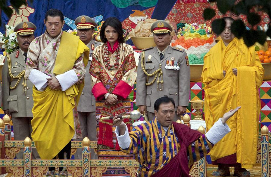 свадьба короля бутана фото очевидцы отмечают